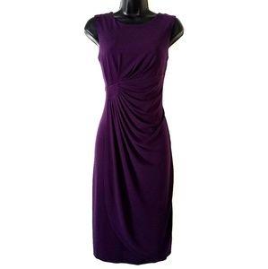 Enfocus Studio purple sleeveless pleated dress